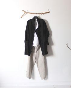 Débardeur veste en lin tenue pantalon à la main sur mesure de petite à grande taille d