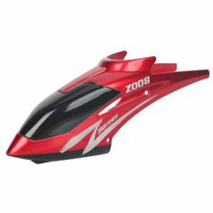 Helicopter Spare Part Canopy Head Cover for Z008 4-Channel RC Helicopter Red by Crazy Cart. $0.55. Features: 1. Perfect design, high quality and fine workmanship 2. Practical and durable for long-term use  3. Convenient to replace and install  Specifications: 1. Model:Z008  2. Material: Plastic 3. Dimensions: (3.74 x 1.06 x 1.57)in/(9.5 x 2.7 x 4)cm(L x W x H) 4. Weight: 6g/0.21oz 5. Color: Red 6. Suitable for: Z008 4CH RC Remote Control Helicopter  Package In...