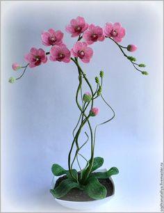 Орхидея из бисера. Работы мастера и МК. Обсуждение на LiveInternet - Российский…