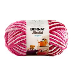 Bernat Blanket Brights yarn large skein in Raspberry Ribbon 220 yd-Super bulky weight stitches on size 11 needles-Suggested crochet hook: wash and dry If you buy more than one skein, this will ship priority mail due to weight. Bernat Baby Blanket, Blanket Yarn, Baby Blanket Crochet, Plush Blankets, Knitting Gauge, Knitting Yarn, Loops And Threads Yarn, Bernat Yarn, Ombre Yarn