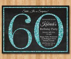 40th birthday invitation for women blue glitter birthday party 60th birthday invitation blue glitter birthday party invite adult surprise birthday elegant filmwisefo