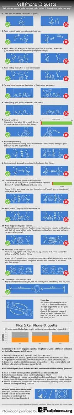 Etiquette Rules | Cell Phone etiquette--rules to follow
