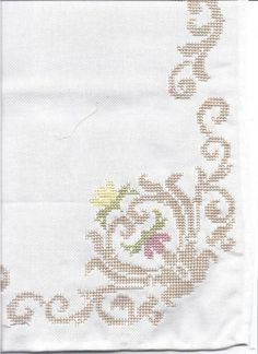 Gallery.ru / Фото #101 - diafora - ergoxeiro Cross Stitch Borders, Cross Stitch Flowers, Cross Stitch Charts, Cross Stitching, Cross Stitch Embroidery, Cross Stitch Patterns, Embroidery Patterns Free, Filet Crochet, Fabric Art