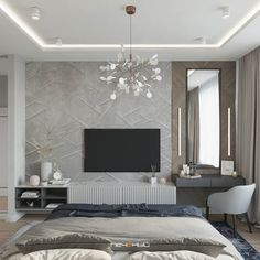 Спальня (227 фото)   «Печёный» Bedroom Bed Design, Home Room Design, Bedroom Decor, Modern Luxury Bedroom, Luxurious Bedrooms, Bedroom Color Schemes, Bedroom Colors, Tv Unit Bedroom, House Ceiling Design