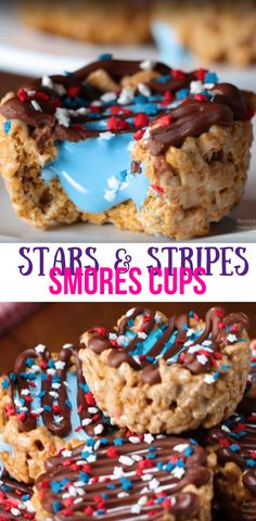 Stars & Stripes Smores Cups Best Dessert Video Recipe #dessert #baking #kids