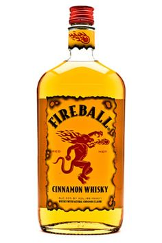 Home-made fireball 1 liter bottle of bourbon whiskey  1 cup Red Hots cinnamon candy  4 ATOMIC FireBall Jawbreaker Candy, smashed  Dump all ingredients into a large mason jar. Shake, place the jar in the freezer and wait for a day.