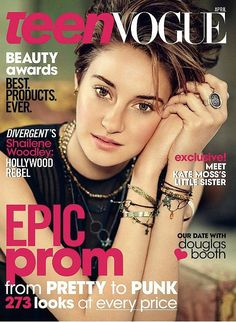 Shailene Woodley photographed by Boo George. Source: Courtesy of Teen Vogue: Gorgeous natural makeup look!