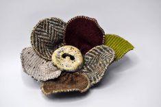 NEW tweed christmas gift WINTER coat pin wool donegal tweed brooch brown cm l Coat Pin, Wool Cape, Handmade Christmas Gifts, Donegal, Winter Coat, Baby Shoes, Brooch, How To Make, Ebay