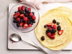 Get Crepe Batter Recipe Recipe from Food Network Best Breakfast Recipes, Sweet Breakfast, Brunch Recipes, Breakfast Ideas, Group Breakfast, Yummy Recipes, Breakfast Crepes, Recipies, Mexican Breakfast