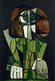 Pablo Picasso, 1946 Femme assise on ArtStack (Cubism) Pablo Picasso, Art Picasso, Picasso Portraits, Picasso Paintings, Picasso Images, Georges Braque, Spanish Painters, Spanish Artists, Francoise Gilot