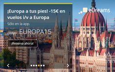 Cupón descuento de 15€ en tu reserva de vuelo en eDreams