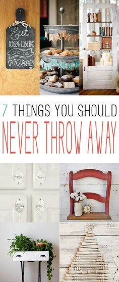 7 Things You Should NEVER Throw Away - The Cottage Market upcycled crafts Upcycled Crafts, Recycled Decor, Upcycled Home Decor, Repurposed Furniture, Diy Furniture, Diy Home Decor, Repurposed Items, Furniture Refinishing, Refurbished Furniture