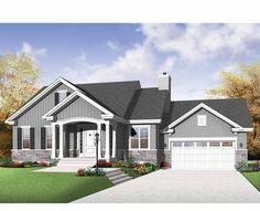 New American House Plan with 1199 Square Feet and 2 Bedrooms from Dream Home Source | House Plan Code DHSW75560