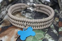 Tan Paracord Dog Collar by ExpeditionWarriors on Etsy. $18.50, via Etsy.