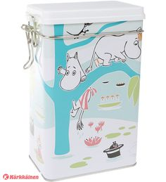 Cheer up your every day coffee moments with this beautiful jar. Size: 12 x 20 x 8 cm Värikäs kahvipurkk Coffee Jars, Coffee Tin, Moomin Shop, Moomin Valley, Tove Jansson, Cheer Up, Kitchen Items, Table Settings, Beautiful