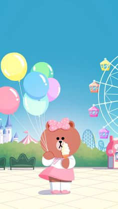 BROWN PIC is where you can find all the character GIFs, pics and free wallpapers of LINE friends. Come and meet Brown, Cony, Choco, Sally and other friends! Lines Wallpaper, Cute Patterns Wallpaper, Kawaii Wallpaper, Iphone Wallpaper, Drawing Cartoon Faces, Cute Drawings, Interracial Art, Kakao Friends, Cute Couple Cartoon