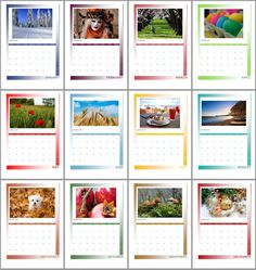 A beautiful printable 2015 monthly wall calendar full of color to brighten your days! 2015 Calendar Printable, Blog Planner, 2015 Planner, Vacation Mood, Vintage Jewelry Crafts, Day Planners, Planner Organization, Blogger Templates, Brighten Your Day