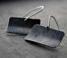Textured Sterling Silver Earrings by JMcCormickDesigns