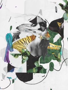 Collages 2017 on Behance Collage Portrait, Collage Artwork, Collage Illustration, Illustrations, Creative Typography, Book Show, Scrapbooks, Cover Design, It Works