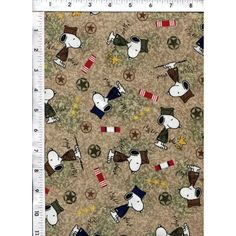 """Snoopy joins the military in this quaint """"Hugs for Heroes"""" fabric. www.americasbestthreads.com"""