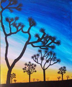 #joshuatrees #sunsets #ruclvr #art #artwork #paintings #originalart #canvas #art  #love  #acrylic by Kristen VanPamel