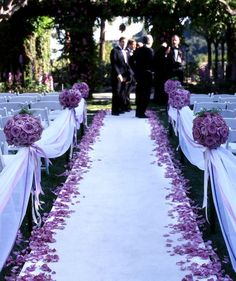 Runner with petals down the side instead of whole aisle of petals? Cheaper and easier to clean up?
