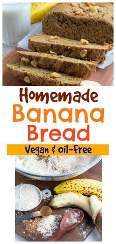 This easy vegan banana bread is the best you'll find, and even though it is egg-free and dairy-free, no one will ever know the difference. #veganbananabread #vegandessert Homemade Banana Bread, Vegan Banana Bread, Quick Bread Recipes, Baking Recipes, Vegan Desserts, Dessert Recipes, Marijuana Recipes, Finding Vegan, Food Articles