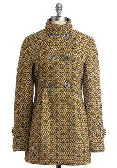 Bandstand Chic Coat - double breasted mod coat found at ModCloth.  On sale for $86.99