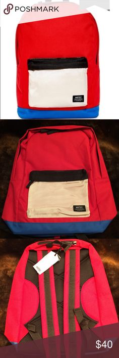 WeSC Chaz Patterned BackPack This bag is perfect! It is made by a Swedish brand and very sturdy! Pack all of your books for school or supplies for camping and enjoy the day! Wesc Bags Backpacks