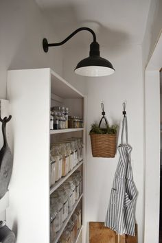 Modern Farmhouse Style Gooseneck Style Lighting for the Kitchen and Pantry