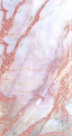 Pink/Rose Gold Marble wallpaper/ Fond d'écran Rose Gold