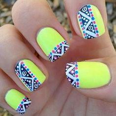 Uñas de neon verdes - Neon green nails