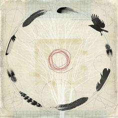 flight path by fiona watson art, Artist Study , circles , Art Featuring Circles… Spiritus, Feather Painting, Bird Art, Oeuvre D'art, Printmaking, Contemporary Art, Creations, Illustration Art, Artsy