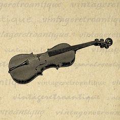 Printable Violin Image Graphic Music Illustration Download Digital Vintage Clip Art Jpg Png Eps 18x18 HQ 300dpi No.1478 @ vintageretroantique.etsy.com #DigitalArt #Printable #Art #VintageRetroAntique #Digital #Clipart #Download