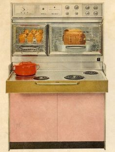 The stove/oven at my Grandma's house when I was litte. I remember her house always smelled like angelfood cake baking.
