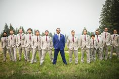 So sleek!  (Photography: @twoonephotography, @vanessatwoonephotography | Planner: Sweetly Paired  | Florist: Olive and Poppy) #mountainwedding #coloradowedding #groomsmen #iconicweddings