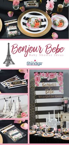 Are you a mommy-to-be expecting a little bundle of joy? Our new Bonjour Bebe baby shower theme is perfect for that stylish mom looking for an elegant theme. This new collection features personalized tableware, favors, and Paris-themed cutouts.