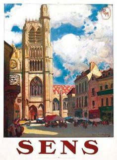 PLM - ville de Sens - illustration de Henri Montassier -