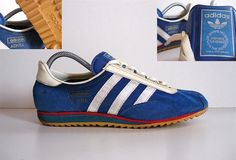 1968 and adidas brought us the Achill running shoe as seen here (this example is from the 70's). It sold during the late 60's and 70's and was then superseded by the SL72. It was then re-issued by adidas in 2011 in a number of colourways - The Achill is i