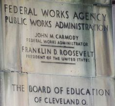 Its cornerstone and it's in 1939 and  there is a plaque of the Public Works Administration, one of the many new government agencies