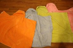 Good DIY hooded towel.  I would add little wash cloths on the side or something like mittens for their little hands :)