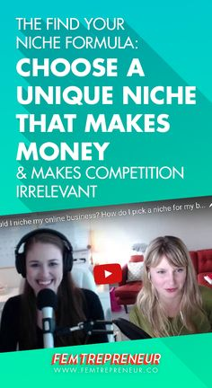 "Ready to make money and make your competition irrelevant? In this blog post, Mariah Coz and Megan Minns discuss the Find Your Niche Formula. Using this formula, you'll be able to choose a unique niche that helps you stand out instantly! They're answering the question ""Should I niche down my online business idea, How do I pick a niche for my online business? Is it too broad, too narrow?"" Watch the video and get your FREE Find Your Niche Formula workbook here…"