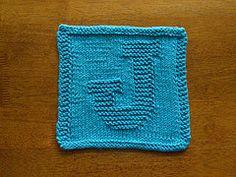 "Ravelry: Knitted ""J"" Cloth/Rhonda White pattern by Rhonda White"