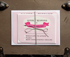 Perfectly Pink Wedding Invite
