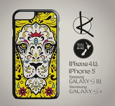 Sugar Skull Lion  iPhone 4/4S 5/5S 6 and Samsung by Kultured