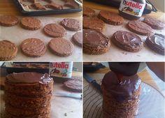 Μαμαδιστικη τουρτα nutella !Πανεύκολη και εντυπωσιακηΤι χρειαζόμαστε: Παντεσπάνι 6 φλιτζανάκια του καφέ αλεύρι για όλες τις χρήσεις κοσκινισμένο 6 αυγά 6 κ. σούπας νερό 4 φλιτζανάκια του καφέ ζάχαρη 1 baking powder 2 βανίλιες αν θελετε να τα κανετε σοκολατενια προσθετετε και κακάο Κρέμα Nutella Cake, Sweets Cake, Sweet Recipes, Muffin, Cooking Recipes, Candy, Cookies, Breakfast, Desserts