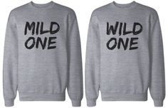 BFF Gift, BFF Sweaters - Mild One and Wild One Matching Grey Sweatshirts for Best Friends