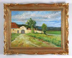 . Summer Landscape, Czech Republic, Garden, Painting, Art, Art Background, Garten, Lawn And Garden, Painting Art