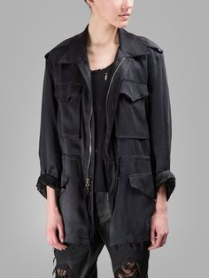 BEN TAVERNITI UNRAVEL PROJECT BEN TAVERNITIUNRAVEL PROJECT WOMEN'S BLACK SILK JACKET. #bentavernitiunravelproject #cloth #jackets