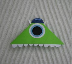 Monster inc origami bookmark